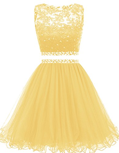 Himoda Women's Two Pieces Short Prom Gowns Beaded Homecoming Dresses H021 8 ()