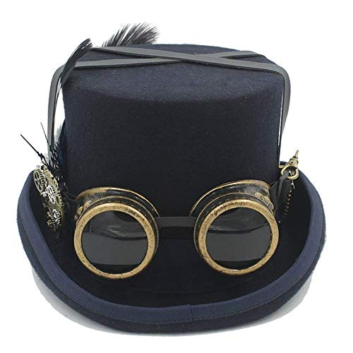 Xiao-mask Halloween Handmade Cosplay Hat Vintage Women Men Steampunk Rose Top Hats with Goggles Retro Costumes Accessories Cosplay Nutcracker Festival Hat Wedding Tophat -