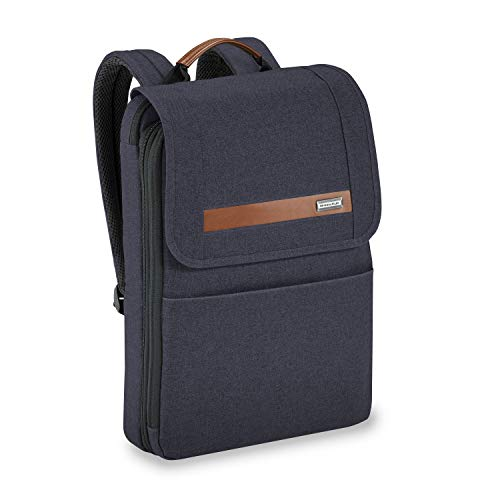 Briggs & Riley Kinzie Street – Slim Expandable Backpack, Navy, One Size – The Super Cheap