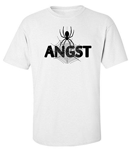 Angst scary spider slogan logo Herren baumwolle t-shirt Medium