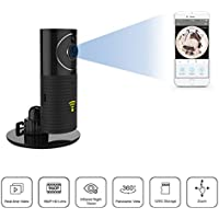 Plater 180° Panoramic View View 960P HD WiFi Security Camera Baby Monitor Infant Wide View Digital Color Video Monitor, Night Vision, 2-Way Audio, SD Card, for IOS and Andriod Cellphone