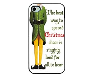 Christmas Iphone Case - Iphone 5 funny christmas case - Hard Plastic Black
