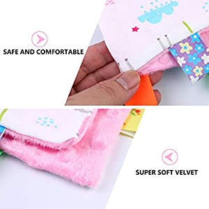 NUOBESTY Baby Security Tag Blanket Soft Appease Towel for Newborn Toddlers (Unicorn Pattern)