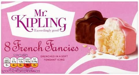 Mr Kipling French Fancies Small Cakes 8 per pack case of 7: Amazon.co.uk:  Grocery