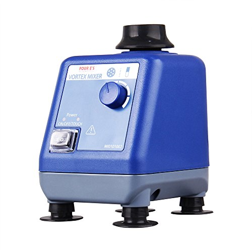 Four E's Scientific Laboratory Vortex Mixer Speed 0-3000rpm, Orbital Diameter 6mm, 50/60Hz, Touch and Continuous Modes, Mix 50ml containers Within 3 Seconds - Benchtop for Clinic Classroom Lab by FOUR E'S SCIENTIFIC (Image #6)