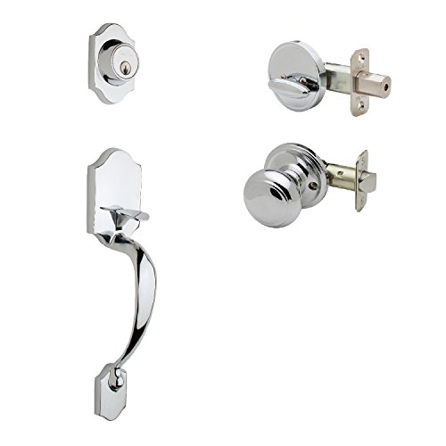 Copper Creek HZ2610XCK-PS Soft Contemporary Front Door Handle Set, Polished Stainless ()