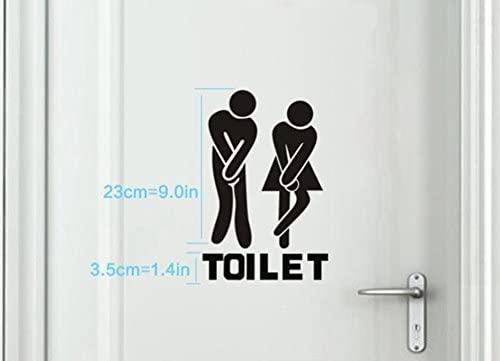Ruikey Hombre y Mujer WC Logotipo Pegatinas de Pared Creative Casa Pegatinas de Decoraci/ón