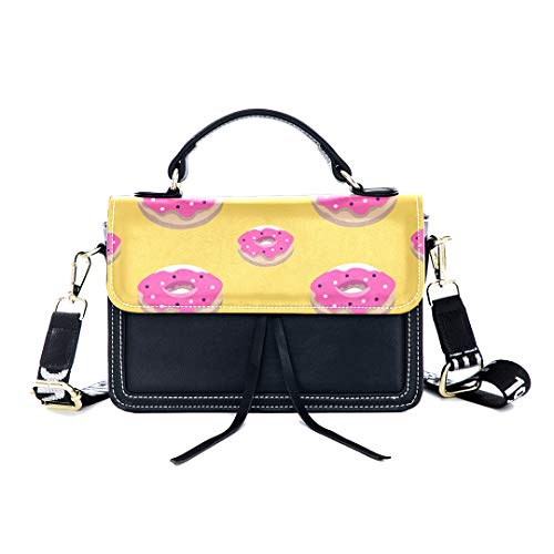 ag Strawberry Donut Dessert Delicious Print Shoulder Bag Top Handle Tote Flap Over Satchel Purses Crossbody Bags Messenger Bags For Women Ladies ()