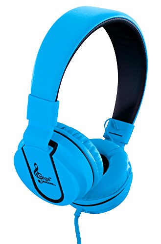 GIGS (ENCORE) BLUE- OVER THE HEAD HEADPHONES W ANSWERING MIC- high quality stereo sound. Leather cushioned stereo headphones function with all iPods, iPhones, iPads, radios, CD, DVD, MP3/MP4 players. For Sale