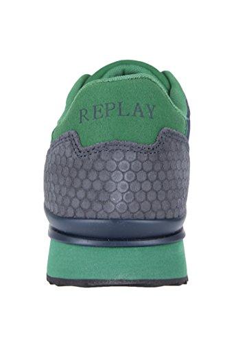 Replay Herren Sneaker Reset Kontrastnähte Blau
