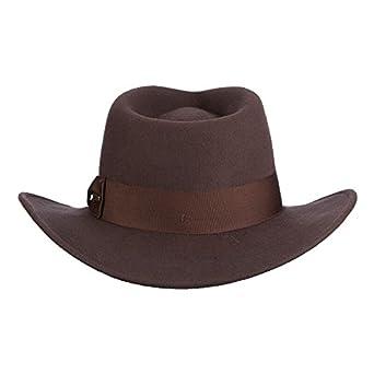 b80da1a75ec4c6 Dorfman Pacific Indiana Jones Men's Wool Felt Fedora at Amazon Men's  Clothing store: Indiana Jones Fedora Hat