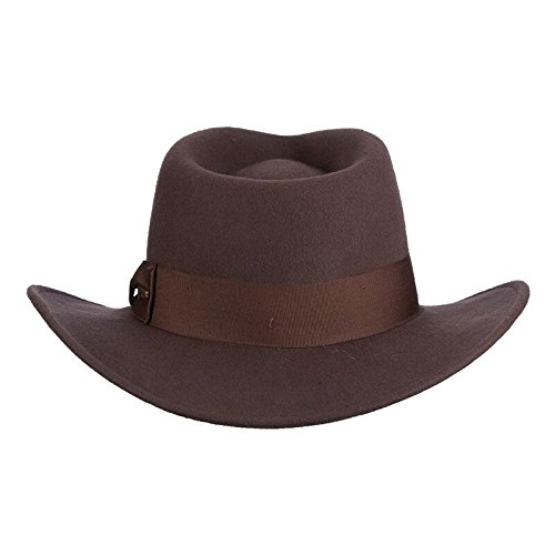 Fedora brown leather