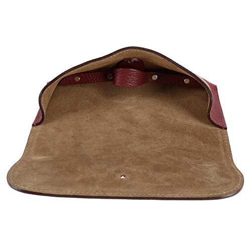 Company The Granate Ante De Hombre Para Con British Forro Piel Belt Italiana Gafas Estuche rOwrqgE
