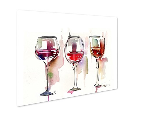 Ashley Giclee Red Wine, Wall Art Photo Print On Metal Panel, Color, 16x20, Floating Frame, AG6041890