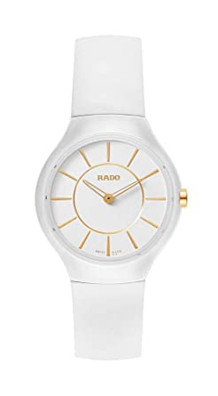 63799a227 Rado True Thinline White Ceramic Womens Watch Quartz Rubber Strap  R27958109: Amazon.co.uk: Watches