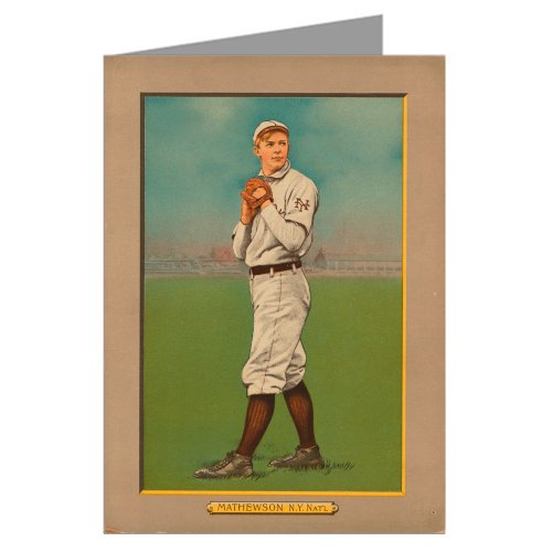 Single Greeting Card of Christy Mathewson, New York Giants Turkey Red Cigarettes Baseball Card ()