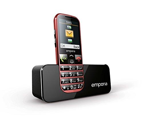 Emporia C160_001_RD ECO Handy (Große Tasten, Farbdisplay, Telefonieren, SMS, Digitalkamera, Speicherkartenslot, Notruf-Funktion, FM-Radio) rot