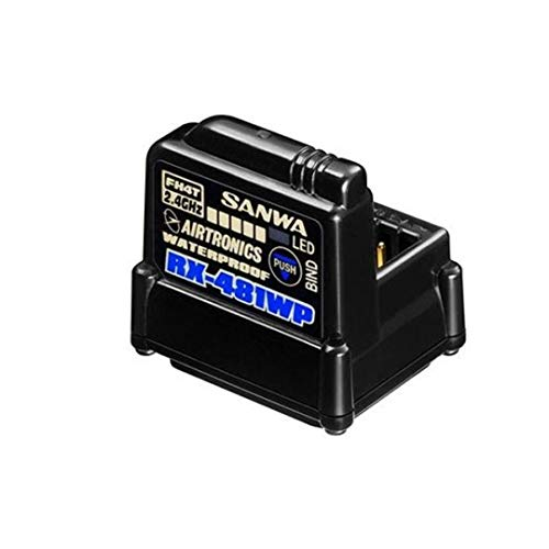 Sanwa Airtronics RX-481WP 4-Ch 2.4GHz 3.7V~7.4V WP Receiver w/Built-in Antenna