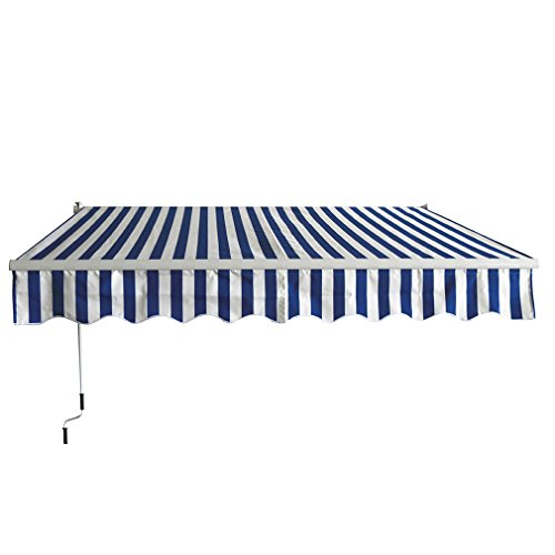 Patio Manual Retractable Sun Shade Awning, 13'x8.2' Door awnings (Retractable Patio Awning Canopy)