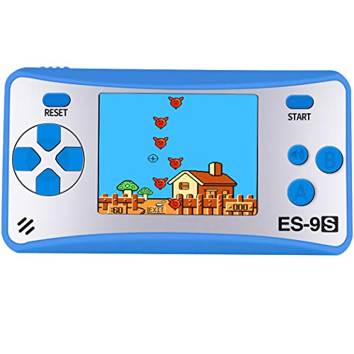 Handheld Games Console for Kids with Built in 168 Classic Video Games Device Mini Arcade Gaming Machines Portable Electronic Consoles 16 Bit 2.5 Screen (Blue)