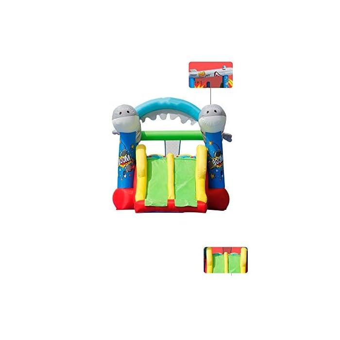 41 gChh6PkL El castillo hinchable hará que todos los niños felices, lo que traerá mucha felicidad a sus hijos, pueden compartir el tiempo de juego valioso con los amigos. Tamaño de medios: Oxford tela respetuosa del medio ambiente, de PVC; 570x270x230cm; castillos hinchables, bolsa de agua y 30 bolas juguetes incluidos. ultiple deportes combinados con diseño especial para los ancianos 3-10: escalada, toboganes, área, aro de baloncesto, piscina de bolas y el océano saltando bajo este gorila inflable tiene muchos deportes diferentes que mantendrán chico de 3 años de edad, para encontrar su apretada 10favorito.