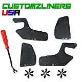 Customzliners USA Front Fender Liners + Retainer Clips + Removal Tool Direct Fit for 1995-2002 Toyota 4Runner Apron Liner Splash Shield Flap Seal Splash Guard Skirt