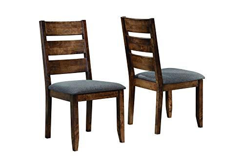Alston Ladderback Dining Side Chairs Knotty Nutmeg and Grey (Set of 2) (Chairs And Rustic Dining Room Tables)