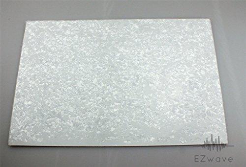 White Pearl Pearloid Pickguard Scratch Plate Blank Material ()
