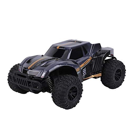DeXop Newest Rc Cars 2.4Ghz 20km/H High Speed Remote Control Car 1/16 Scale RC Truck Radio Control Vehicle Off Road Remote Control Monster for Kids & Adults-Black Orange