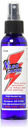 Vasocaine Numbing Spray Painless Anesthetic Numb, 4 Ounce