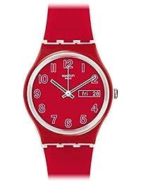 Swatch Unisex GW705 Poppy Field Analog Display Quartz Red Watch