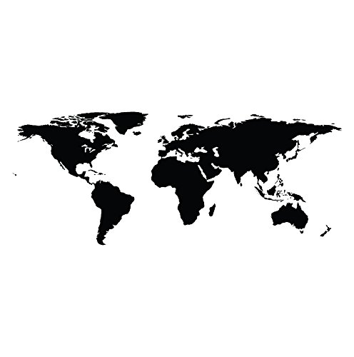 Buy wall world map vinyl