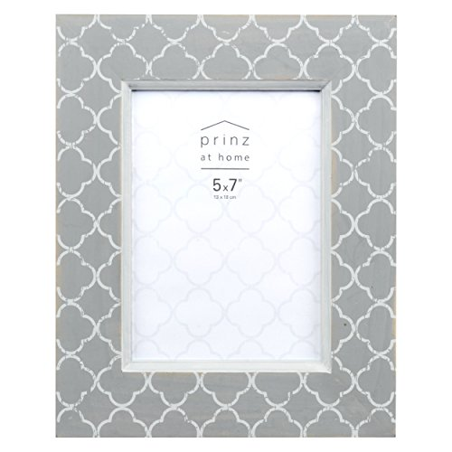 PRINZ Potting Shed 5x7 Fields Gray Lattice Pattern Wood Frame 5 x 7 ()