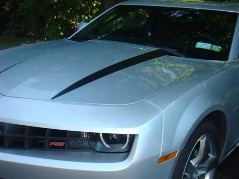 - Hood Spear Decal Graphic Stripes - 2010-2015 Camaro - (Color: Gloss Black)