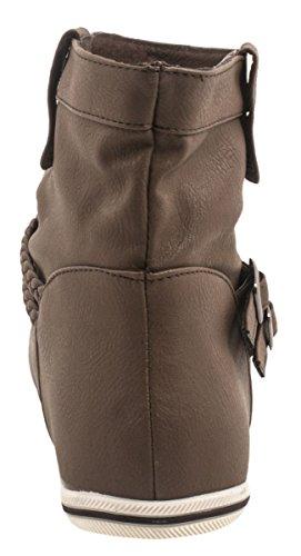 Elara - Botas plisadas Mujer Marrón - marrón