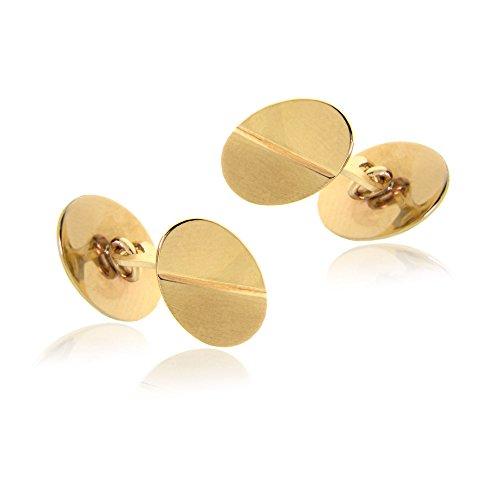 - Gioiello Italiano - 14kt oval yellow gold cufflinks