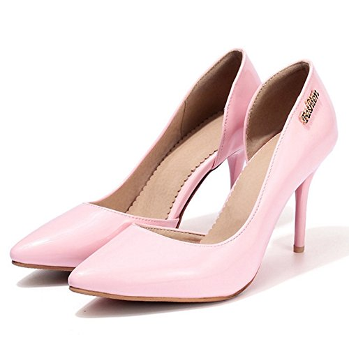TAOFFEN Women Fashion D'Orsay Court Shoes Pink-15 RGwZWHW