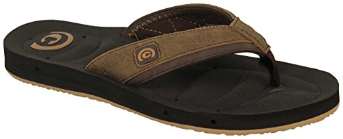 Cobian Men's Draino Flip-Flop, Chocolate, 14 M US