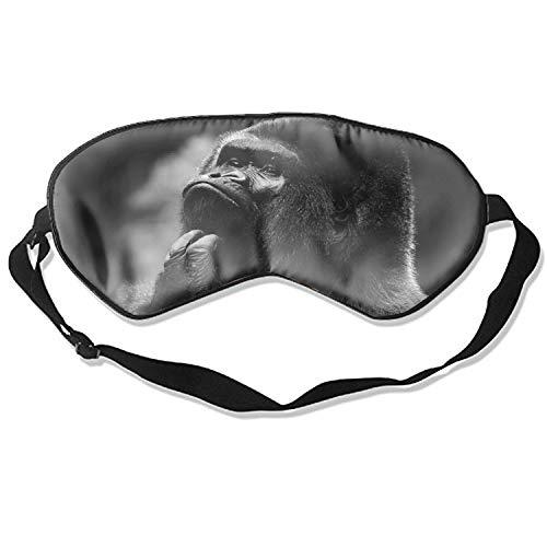 Silk Eye Mask Comfortable Sleeping Eye Shade Mask Animal Gorilla Monkeys