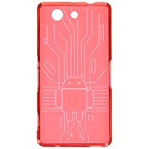 Xperia Z3 Compact Case, Cruzerlite Bugdroid Circuit TPU Bundle of 3 Cases Compatible for Sony Xperia Z3 Compact - Blue/Black/Red