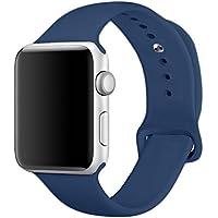 Banda para Apple Watch Series 338mm 42mm, yimzen Reemplazo de Silicona Suave Sport Band iWatch Correa para Apple Watch de serie 3Series 2Series 1, tamaño S/M M/L