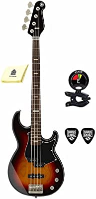 367cc94955 Yamaha BBP34 VS BB-Series 4 Strings Bass Guitar with Active Passive  Electronic Package Includes Guitar Tuner with Guitar Picks and Zorro Sounds  Guitar ...