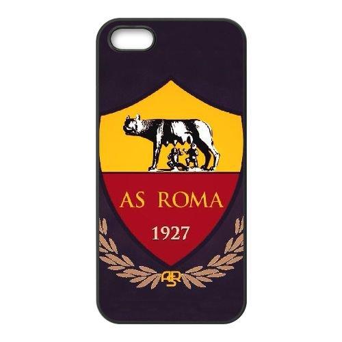 As Roma Logo coque iPhone 5 5S Housse téléphone Noir de couverture de cas coque EBDOBCKCO17553