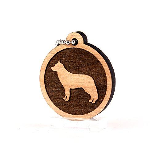 Sunset Design Lab Siberian Husky for AKC Dog Pet American Kennel Club Wood Laser Cut Keychain Charm Ornament (Husky Siberian Kennel Club)