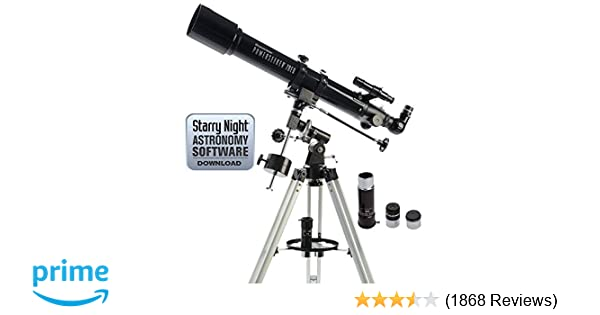 Amazon celestron powerseeker eq telescope refracting