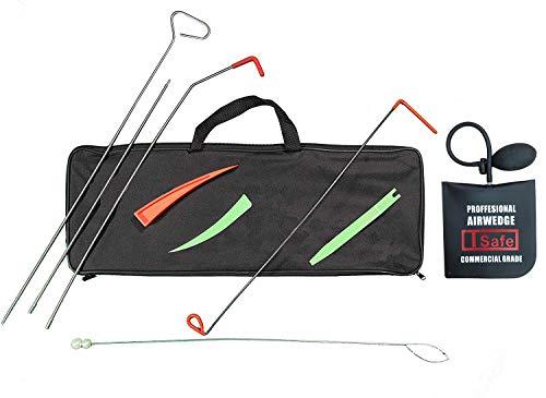 TSafe Full Professional Kit- Long Reach Grabber, Air Wedge, Knob Grabber, 2 Non Marring Wedges, Pry Tool, Short Grabber, Carrying Case (Firefighter Tool Kit)