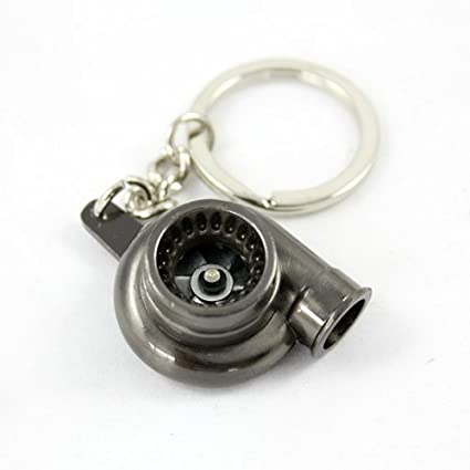 Ariic New Creative Car Turbocharger KeyChain Key Ring Turn the Turbo Accessories Black