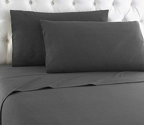 LuxuriousSheets Ultra Soft Microfiber - Sleeper Sofa Sheet Set Solid, Grey, Queen Size (62