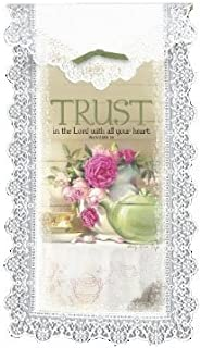 product image for Heritage Lace Trust in The Lord 12-Inch by 20-Inch Wall Hanging, White