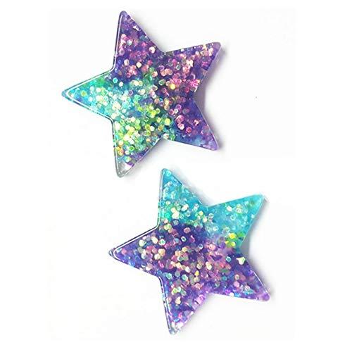 Scrapbooking resin flatback  Christmas Craft x50 clear glitter heart buttons